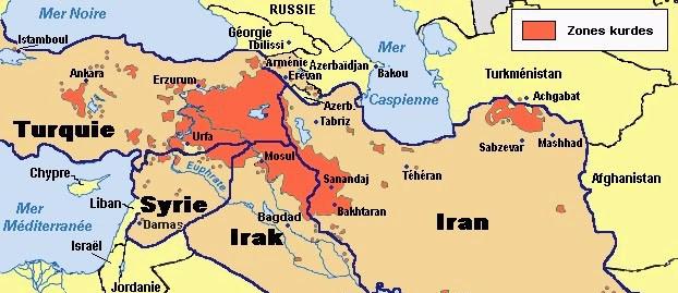 Kurdistan-map