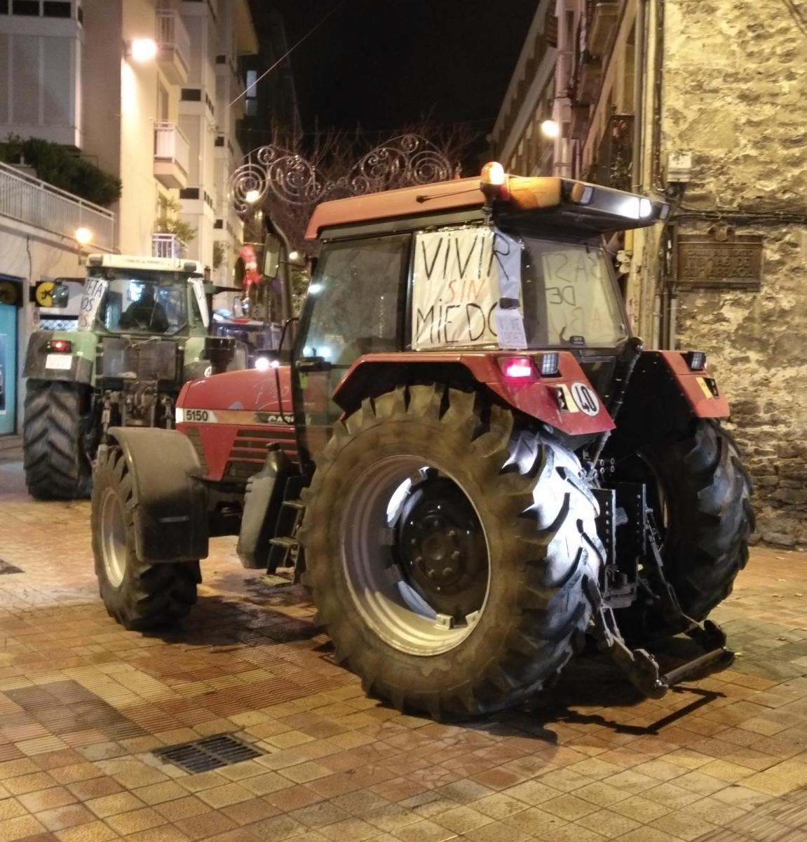 Vecinos de Aztegieta se manifiestan en Gasteiz contra la llegada de los Pichis
